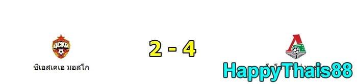 ซีเอสเคเอ มอสโก 2 - 4 โลโคโมทีฟ มอสโก